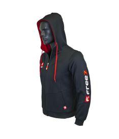FREEZ VICTORY ZIP HOOD black/red junior 140  - Hoodies