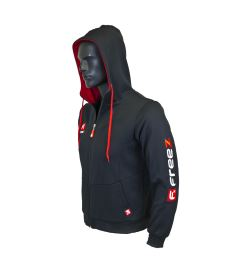 FREEZ VICTORY ZIP HOOD black/red senior XS - Hoodies