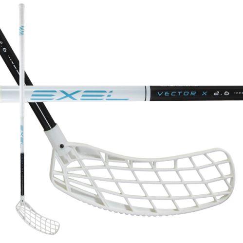 EXEL VECTOR-X BLACK-WHITE 2.9 101 ROUND MB - Floorball-Schläger für Erwachsene