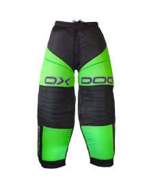 OXDOG VAPOR GOALIE PANTS black/green S - Kalhoty
