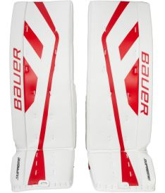 Goalie pads BAUER GP SUPREME ONE.9 white/red senior - 35+2""