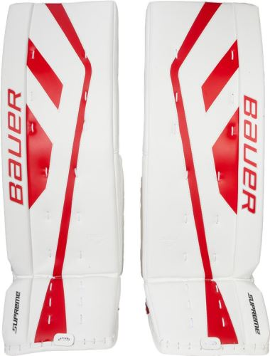 Goalie pads BAUER GP SUPREME ONE.9 white/red senior - 35+2