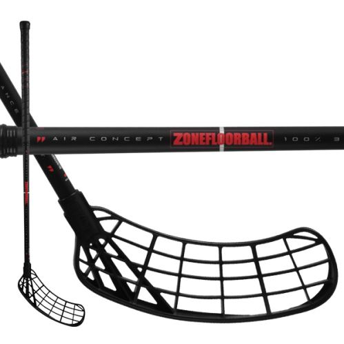 ZONE Stick MAKER Air 30 black/red 87cm L-19 - Floorball sticks for children