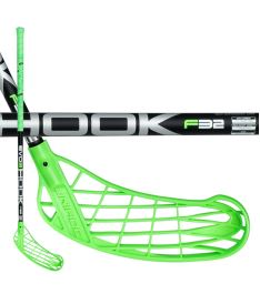 UNIHOC STICK EVO3 HOOK 32 neon green/black 92cm R-17 - Floorball sticks for children