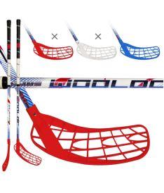 WOOLOC FORCE 3.0 blue-red-white 101 ROUND L - Floorball-Schläger für Erwachsene