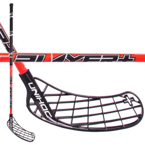 UNIHOC STICK PLAYER+ 26 red/black 104cm - Floorball-Schläger für Erwachsene