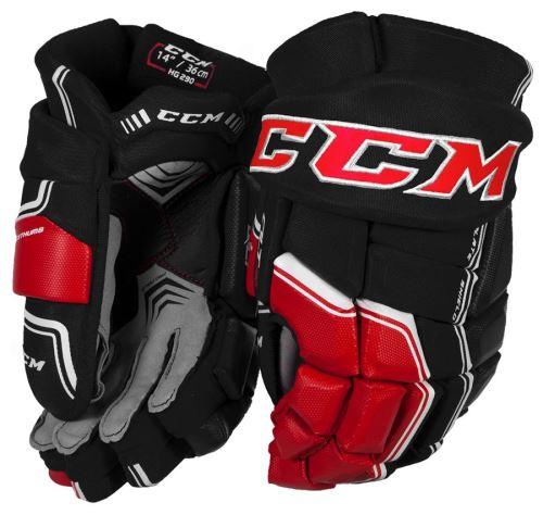 Hokejové rukavice CCM QUICKLITE 290 black/red/white senior - 14