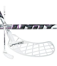 UNIHOC STICK UNITY TOP LIGHT II 29 white/purple 96cm L-17 - Floorball stick for adults