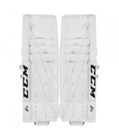 Goalie pads CCM GP E-FLEX 3.9 white senior - 34+3