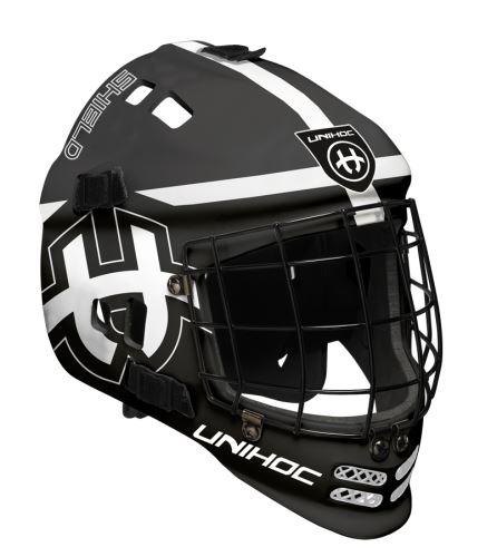 UNIHOC GOALIE MASK SHIELD black/white - Masken