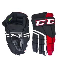 Hokejové rukavice CCM 30K black/red/white senior - 14""