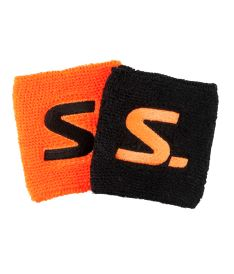 SALMING Wristband 2-Pack black/magma red
