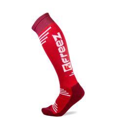 Sportovní podkolenky FREEZ QUEEN LONG SOCKS RED
