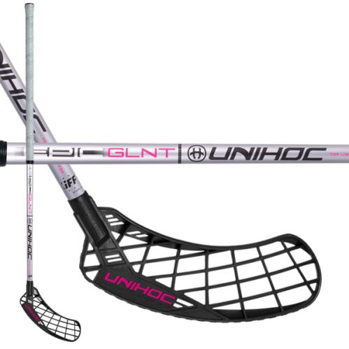 UNIHOC STICK EPIC GLNT Top Light II 26 silver 100cm - Floorball stick for adults