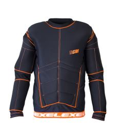 EXEL S100 PROTECTION SHIRT black/orange - Pads and vests