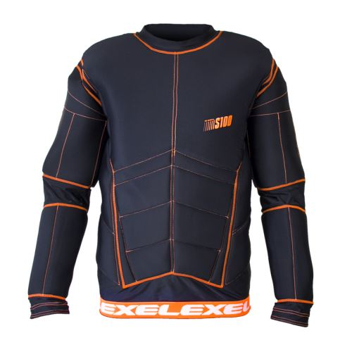EXEL S100 PROTECTION SHIRT black/orange XXL - Pads and vests