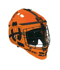 UNIHOC GOALIE MASK SHIELD neon orange/black