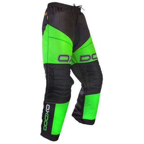 OXDOG VAPOR GOALIE PANTS senior black/green - Kalhoty