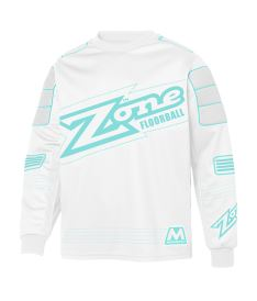 ZONE GOALIE SWEATER MONSTER white/light turquoise L