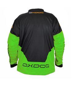 OXDOG VAPOR GOALIE SHIRT black/green 150/160 - Brankářský dres