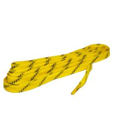 GRAF LACES HOCKEY WAXED yellow 305cm