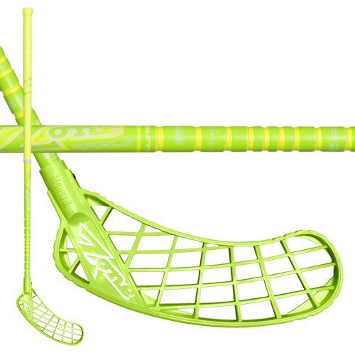 ZONE STICK MONSTR RIPPLE UL 29 neon yellow 100cm L-17 - Floorball stick for adults