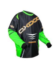 OXDOG GATE GOALIE SHIRT black/green  XL