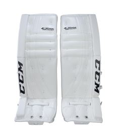 Goalie pads CCM GP E-FLEX 500 white senior - 34+1""