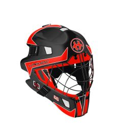UNIHOC GOALIE MASK OPTIMA 66 black/neon red