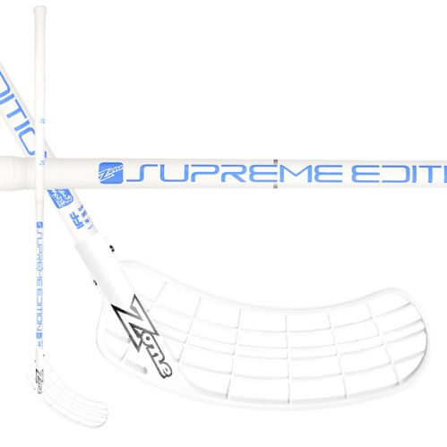 ZONE STICK SUPREME Composite 27 white/blue 100cm R-17 - Floorball stick for adults