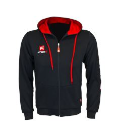 FREEZ VICTORY ZIP HOOD black/red senior 3XL