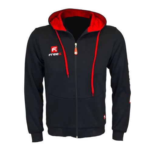 FREEZ VICTORY ZIP HOOD black/red junior 140  - Hoodies
