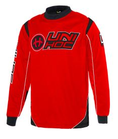 UNIHOC GOALIE SWEATER OPTIMA neon red/black XL