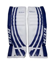 Goalie pads CCM GP E-FLEX 400 white/blue senior - 34+1""