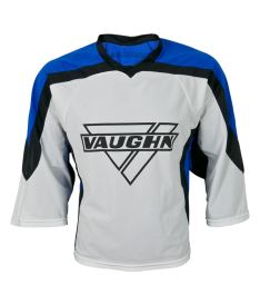 VAUGHN GOALIE JERSEY 7360 white/blue junior - L