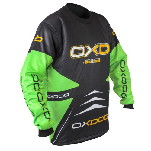 OXDOG VAPOR GOALIE SHIRT black/green M - Jersey