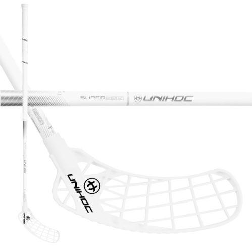 UNIHOC STICK ICONIC SUPERSKIN PRO 26 white/silv 96cm L - Floorball-Schläger für Erwachsene