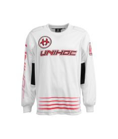 UNIHOC GOALIE SWEATER INFERNO white/neon red